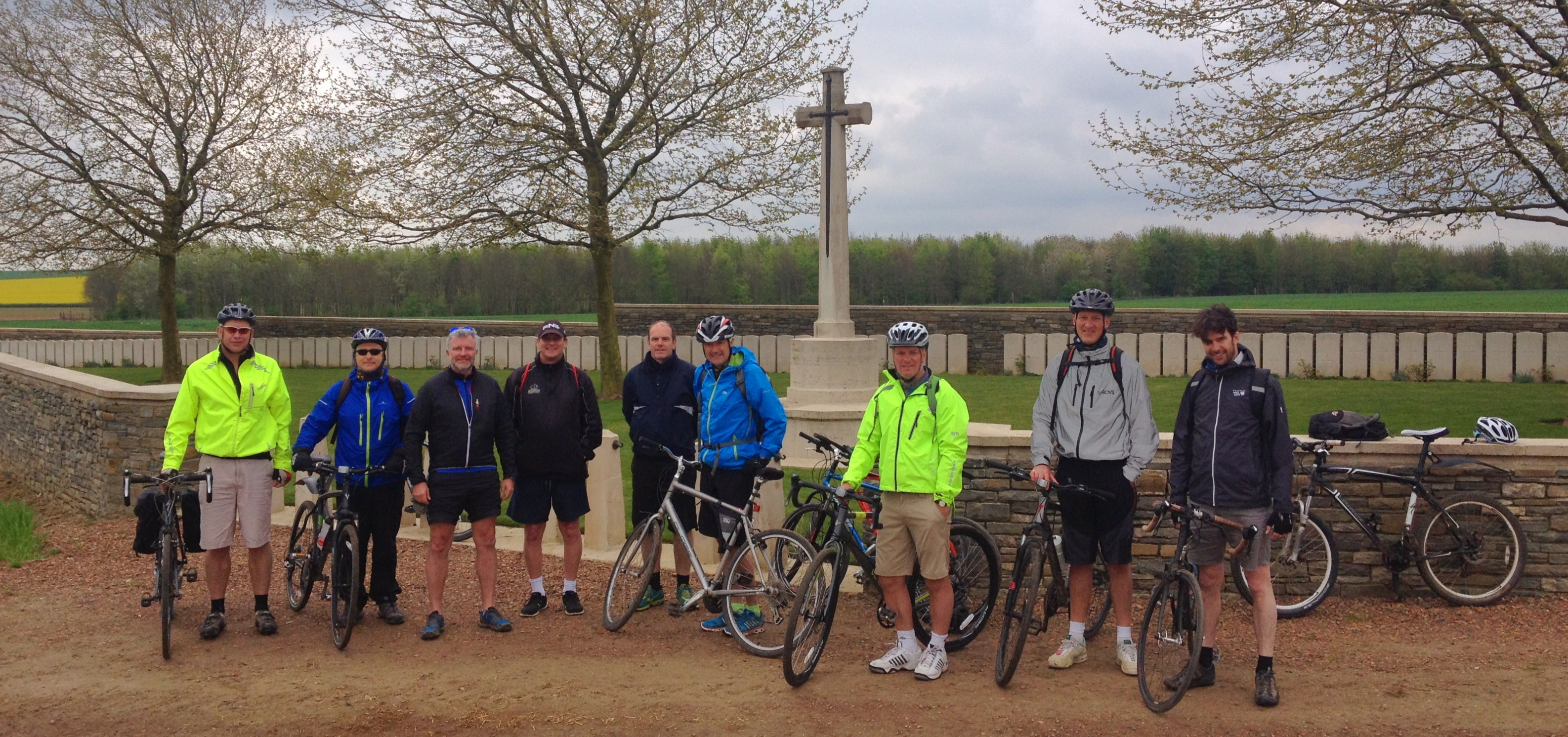 Cycling tour at Bootham Cemetery, Heninel