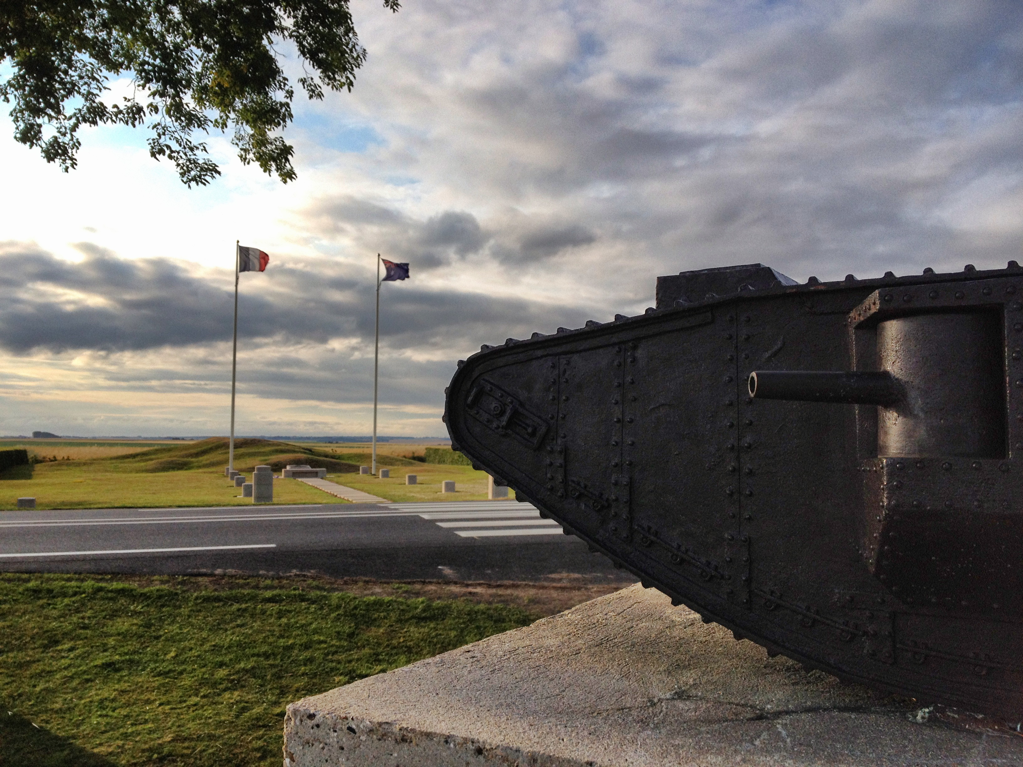 Tank Memorial and Pozieres Windmill